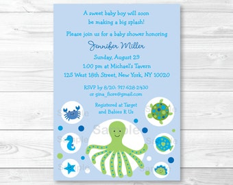 Under the Sea Baby Shower Invitation PRINTABLE