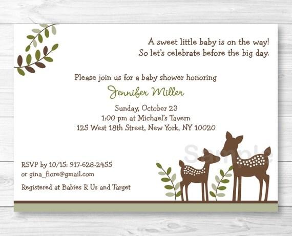 deer baby shower invitation deer baby shower invite woodland baby