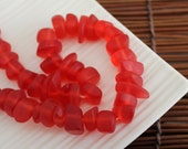 Red Resin Chips / Resin Beads / 15 pieces