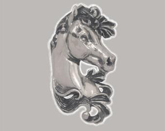 """Sterling Silver Art Nouveau Arabian Horse """"Khamr"""""""