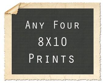 Gallery Wall Art, Print Set of 4, Print Series, Gallery Wall Set, Fine Art Prints, 8X10