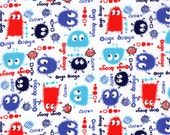 Patriotic Ooga Booga PUL, Laminated Polyester Interlock Knit, by the yard, 58 inches wide