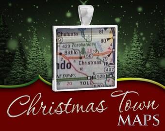 Christmas, Florida | Christmas Town Map Pendant