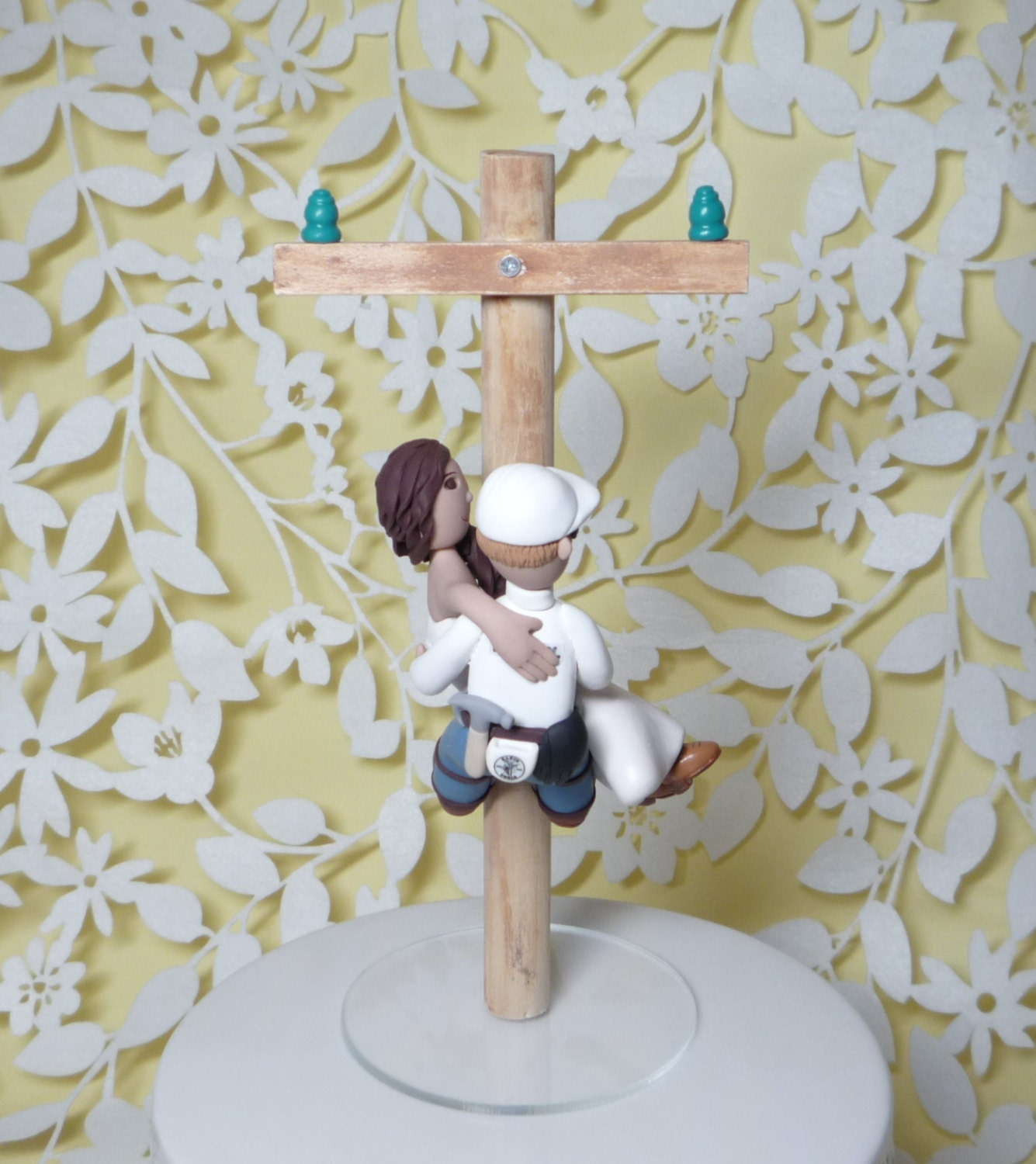 lineman wedding cake topper lineman wedding cake topper with electric by 16905