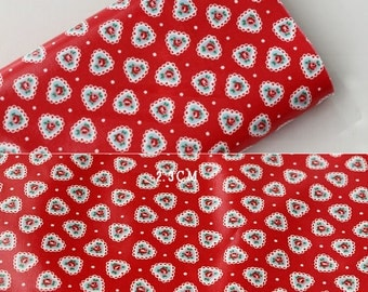 3639 - Cath Kidston Sweetheart Rose (Red) Oilcloth Waterproof Fabric - 28 Inch (Width) x 17 Inch (Length)