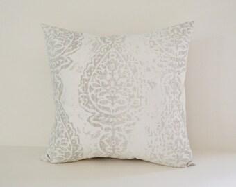 White Pillow Cover Decorative Pillows Throw Pillows French Grey Pillow 16x16 18x18 20x20 22x22