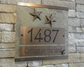 Seastar House Numbers Starfish Address Plaque