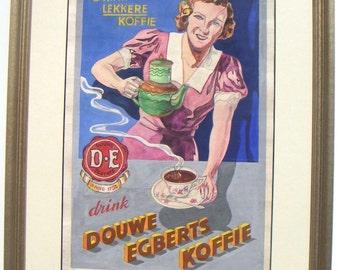 Dutch Coffee  original illustration 1950s