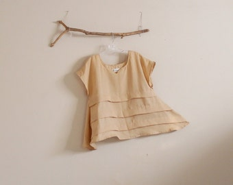 hanky linen pleated umbrella shape top made to order