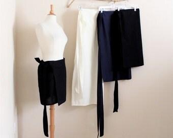4 simple wrap skirts mini skirt knee length skirt mid calf length skirt full length skirt