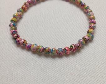 Multicolor Italian Glass Bead Bracelet