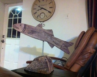 Fish Chainsaw Carving Wood
