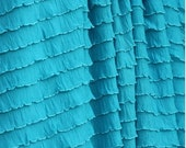 Ruffled Curtain Valance in Turquoise Blue, 13 inches tall by 52 inches wide, Victorian Home Decor for your Kitchen, Living Room, Bedroom