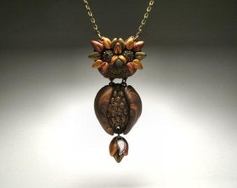 Polymer Clay Owl Necklace - Fall Fashion Jewelry
