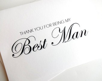 Best Man Card Thank You