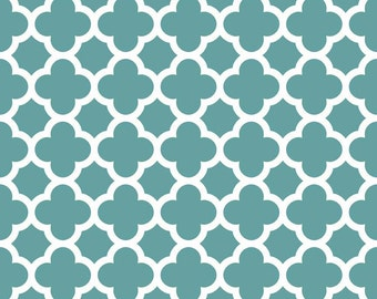 Quatrefoil in Teal (C435-26)