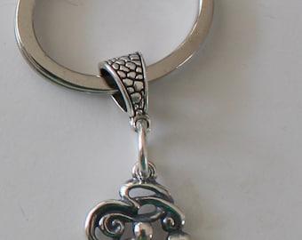 Sterling YOGA Key Ring, Key Chain -  Health, Exercise