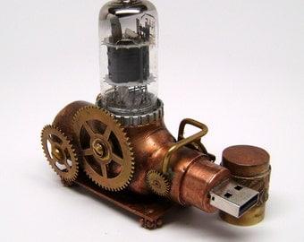 "Steampunk ""Ion Canon"" flash drive, steampunk usb.Steampunk usb flash drive. steampunk sculpture."