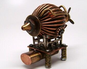 "Stempunk ""Airship"" flash drive. Steampunk usb flash drive 16GB. steampunk sculpture."