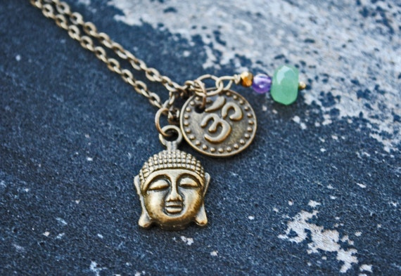 Ohm Buddha Charm Necklace