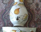 LAVABO ~ Vintage Ceramic Wall Pocket Fountain Made in Italy
