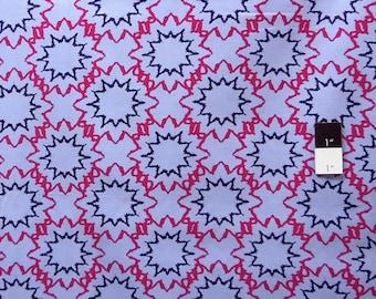CLEARANCE Free Spirit Design Loft PWFS004 Kaleidoscope Starred Denim Cotton Fabric 1 Yard