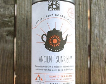 0433 Ancient Sunrise 15bag tin, fine organic fair trade tea