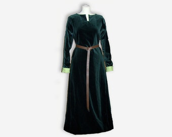 medieval dress, simple cotte, historical dress, SCA garb, simple wedding dress, handfasting, celtic wedding, made for you, handmade