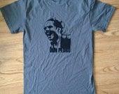 T-shirt, Pedro Albizu Campos, Puerto Rican Revolutionary, Nationalist, Mens Gray/Grey