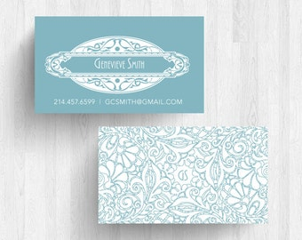 250 or 500 Custom Art Deco Business or Calling Cards