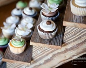Cupcake Stand made from weathered barn wood 4 tiered cupcake stand or candy bar.