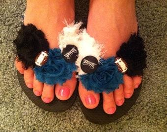 Custom Philadelphia Eagles Inspired Flip Flops, Eagles Sandals, Football Flip Flops , Football Shoes, Philadelphia Eagles Shoes Sandals