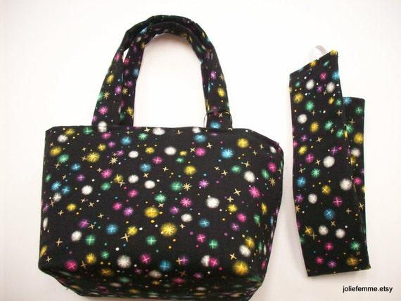 Enchanting Gift Set Pixie Dust Teeny Tote Bag with Matching Headband Small Mini Bucket Bag Basket