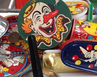 fun and festive lot of vintage noise makers