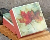 Graphic Art Soap - Fall Leaves II in a Crisp Apple Scent, Themed Glycerin Soap