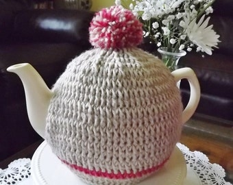 Light Brown and Red, Simplicity, Teapot  Cozy