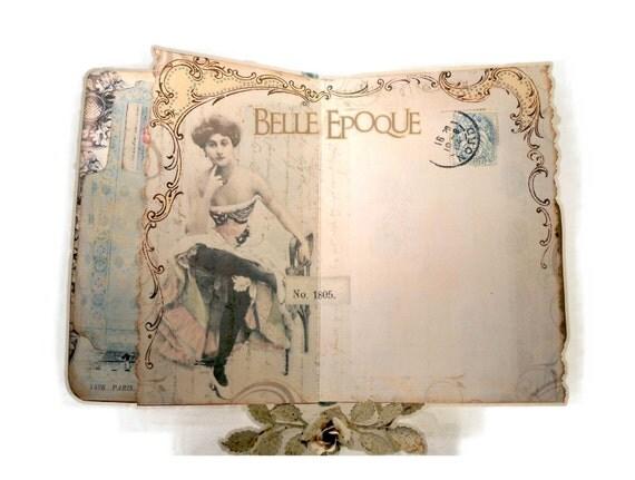 Paris Travel Journal, Handbound Paris Scrapbook Journal, Paris Book, Travel Diary,  Souvenir Journal, Carnet de Voyage, Honeymoon Journal