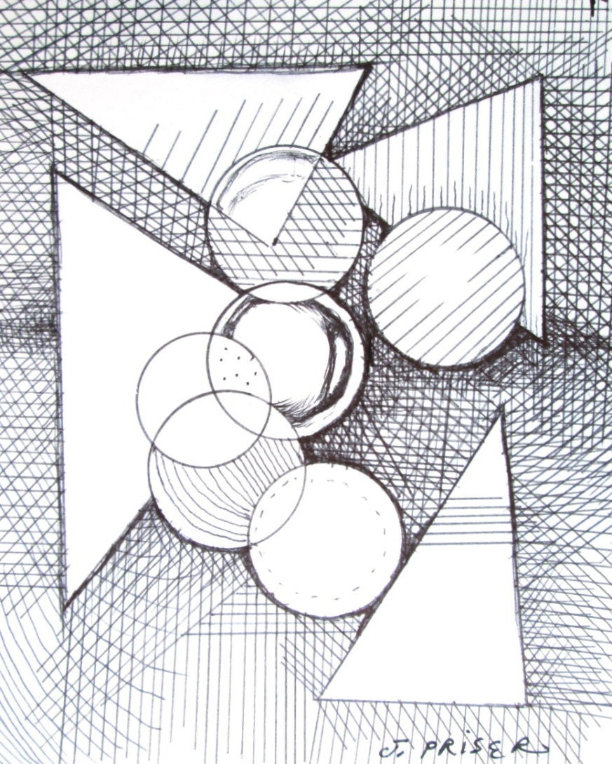 dessin abstrait g om trique original