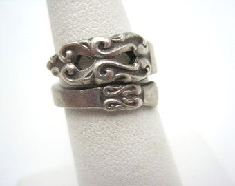 Vintage Spoon Ring - Wrap, Internation Silver