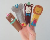 circus animal finger puppets