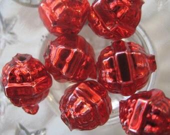 7 Glass Garland Beads Christmas Garland Red Beads Czech Republic Style 034 R