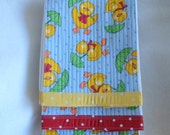 Diaper Burp Cloths with Duck Fabric Quilted on to the Front