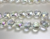 Beads, Glass Beads, Chinese Crystal, AB Clear, Hexagon shape, 14 x 12mm Jewelry Supplies, Jewellery Supplies