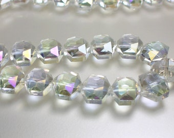 17pcs 14mm Clear AB Chinese Crystal Glass Beads Hexagon shape Jewelry Jewellery Craft Supplies