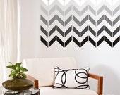 Wall Decals Chevron Pattern (smaller design) - Vinyl Art Stickers