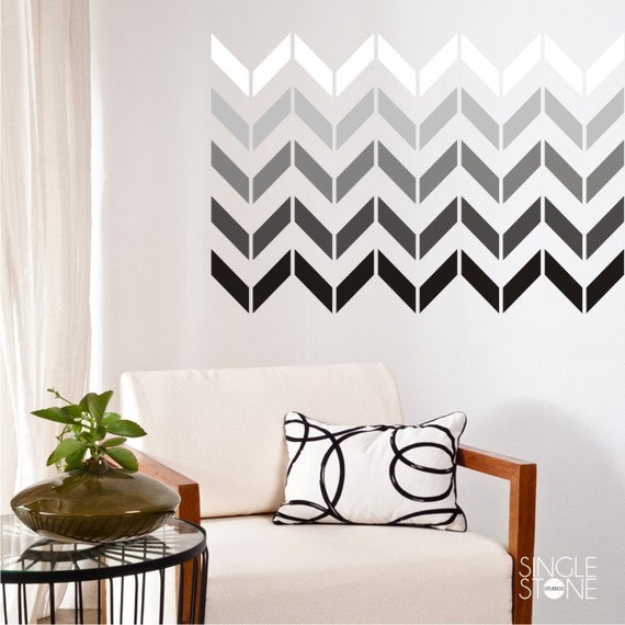 wall decals chevron pattern smaller design vinyl art chevron full wall decal