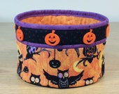Quilted Fabric Bowl - Owls and Jacks (HQB11)