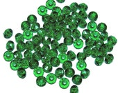 4x6mm acrylic Rondelle Saucer beads in Emerald Green 100 beads
