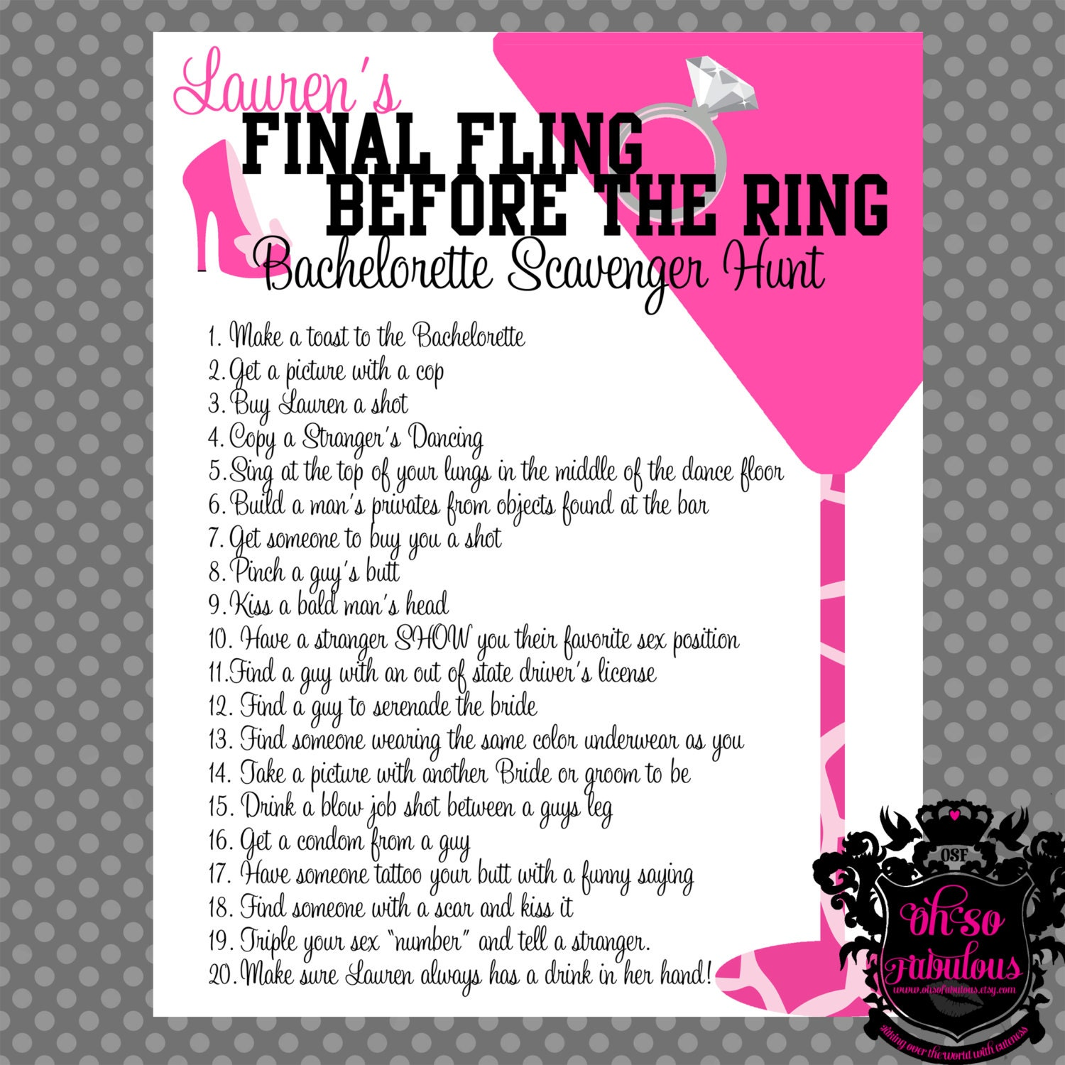 This is a picture of Fan Printable Bachelorette Games