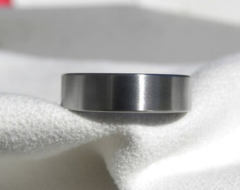 Titanium Ring or Wedding Band, Classic Style, Satin Finish, Wedding Ring, Mens Ring